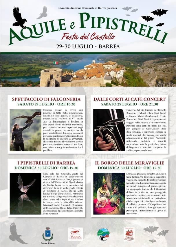 Aquile e Pistrelli - Festa del Castello Programma